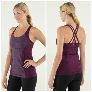 LULULULEMON Energy tank we are from space  top